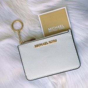 💃Michael Kors Jet Set Small Top Zip Coin Pouch